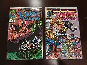 X-Men: Havok Comic Set of 2- No. 29 & 31, published in 1989.
