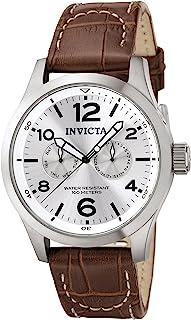 [インビクタ]Invicta 腕時計 I-Force メンズ 石英 48mm ケース 褐色 レザーストラップ シルバーダイヤル 0765 メンズ 【正規輸入品】