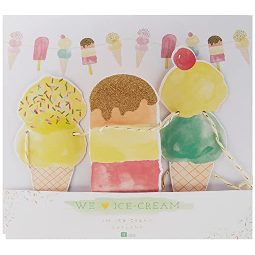 Great For Summer D/écor And Birthday Party 3 Pack Talking Tables Ice Cream Party Decorations Hanging Honeycomb