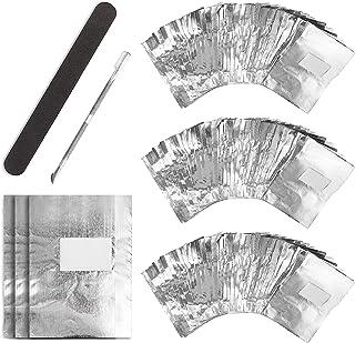 UNEEDE Almohadillas para quitar esmalte de uñas300 unidades de lámina de aluminio para esmalte de uñas1pieza de quitacut...