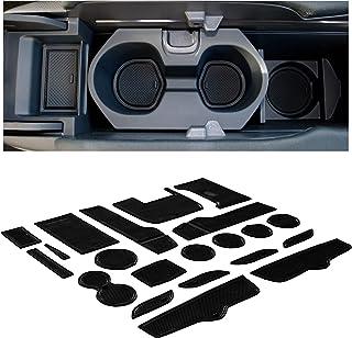 CupHolderHero for Honda Civic Accessories 2016-2020 Premium Custom Interior Non-Slip Anti Dust Cup Holder Inserts, Center Console Liner Mats, Door Pocket Liners 21-pc Set (Sedan) (Solid Black)
