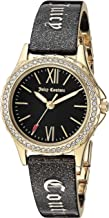 Juicy Couture Black Label Women's  Swarovski Crystal Accented Zebra Resin Bangle Watch