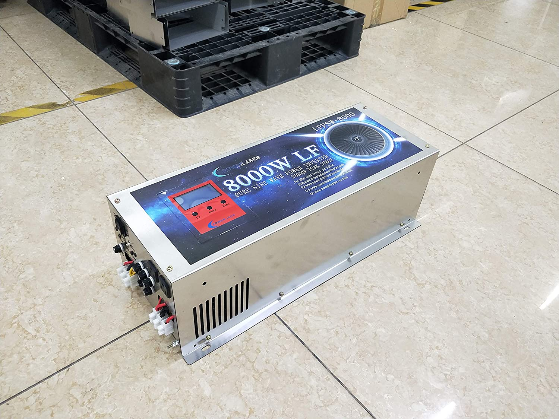 12V 8000W LF Split Phase Pure Sine Wave Power Inverter DC 12V to AC 110V&220V 60Hz, with Battery Charger/UPS