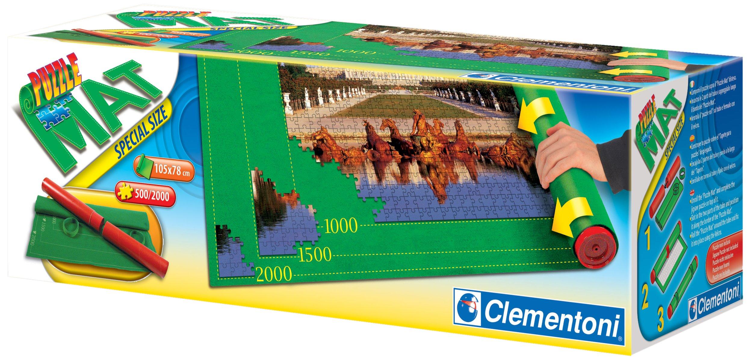 Clementoni- Puzzle Mat Tapete Especial para Montar puzles, Color Verde, 43.2 x 40.1 x 13.5 (30297): Amazon.es: Juguetes y juegos