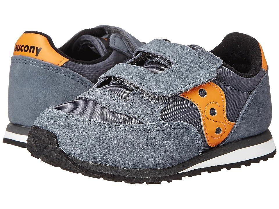 Saucony Kids Originals Jazz Hook Loop (Toddler/Little Kid) (Grey/Orange) Boys Shoes