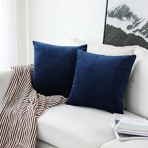 Navy Blue Pillow Covers Amazon Com