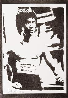 Poster Bruce Lee Handmade Graffiti Street Art - Artwork