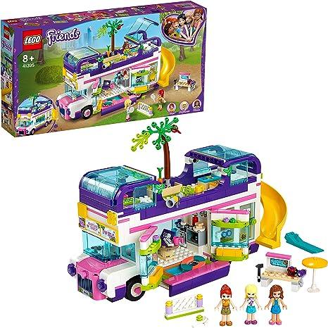 LEGO 41395 Friends Bus de la Amistad Juguete de Construcción para Niños y Niñas +8 años, Autobús con Piscina y Mini Muñecas