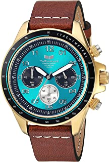 Vestal 'ZR2' Quartz Stainless Steel and Leather Casual Watch, Color:Brown (Model: ZR243L23.LBWH)
