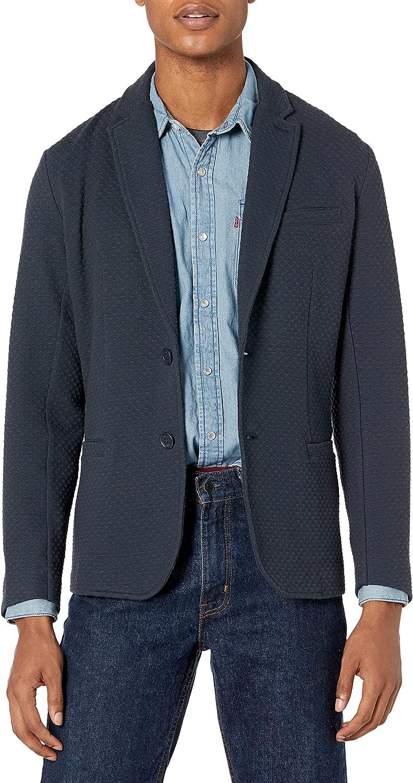 AX Armani Exchange Men's Two Button Cotton Blazer with Micro Pattern