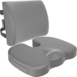 Car Seat Cushion & Lumbar Support for Office Computer Chair Wheelchair - Orthopedic Memory Foam Pillow by FORTEM - Tailbon...