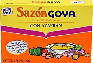 Goya Foods Sazon Con Azafran Seasoning, 20 ct