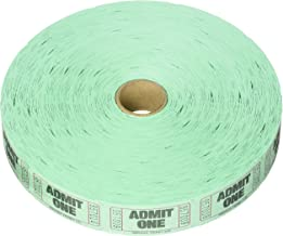 Amscan 341311 Fun-Filled Admit One Green Ticket Roll, 1