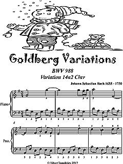 Goldberg Variations BWV 988 14a2 Clav Easiest Piano Sheet Music Tadpole Edition