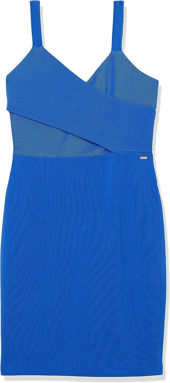 AX Armani Exchange Women's Stretch Corduroy Sleevless V-Neck Body Con Dress