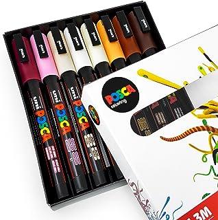 POSCA Colouring - PC-3M Skin Tones - Set of 8 - In Gift Box