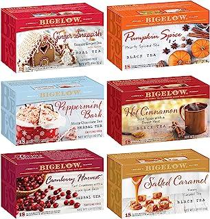 Sponsored Ad - Bigelow Seasonal 6 Flavor Variety Tea Bags, 18-Count Box (Pack of 6), 108 Tea Bags Total