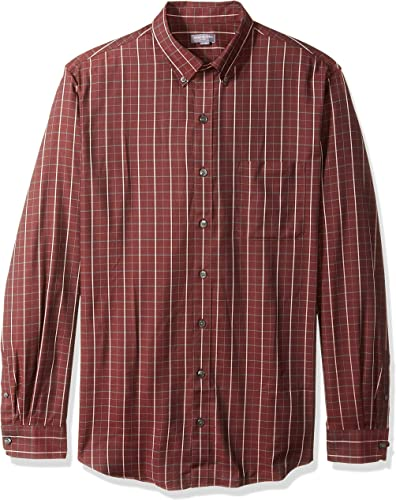 Van Heusen Hommes's Big and Tall Flex Stretch Non Iron Shirt, rouge Rubia Stripe, 4X-grand Big