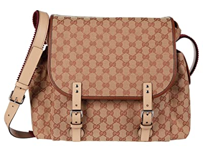 Gucci Kids GG Canvas Diaper Bag (Little Kids/Big Kids) (Beige Multi) Diaper Bags