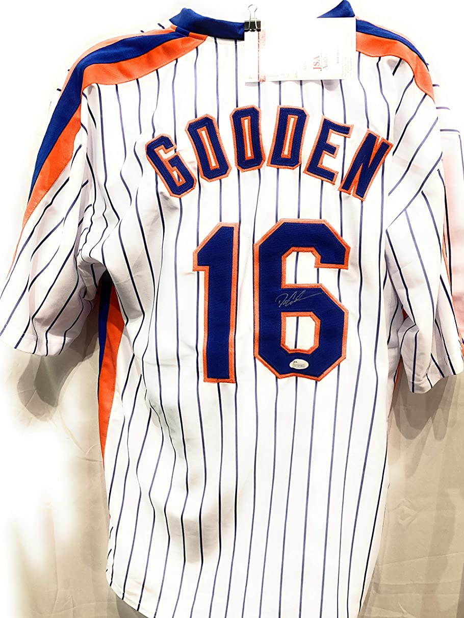Dwight Gooden New York Mets Signed Autograph Custom Jersey JSA Witnessed Certified