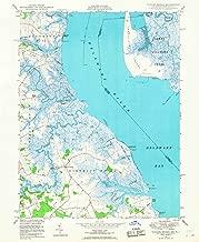 Delaware Maps - 1948 Taylors Bridge, DE USGS Historical Topographic Map - Cartography Wall Art - 35in x 44in
