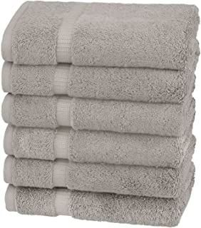 Pinzon Organic Cotton Hand Towels (6 Pack), Marble Grey