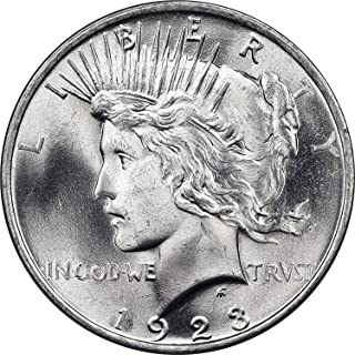 1923 Peace Dollar BU 90% Silver $1 Beautiful Uncirculated Mint State US Mint