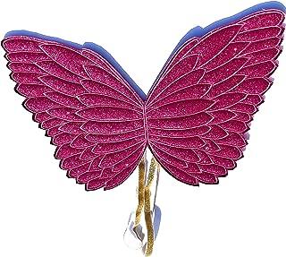 Little Girl Costume Fairy Unicorn Dress Up Wings (Hot Pink Glitter)
