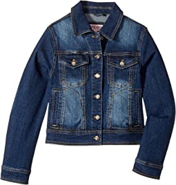 Dark Wash Denim with Rhinestone Detail (Little Kids/Big Kids)