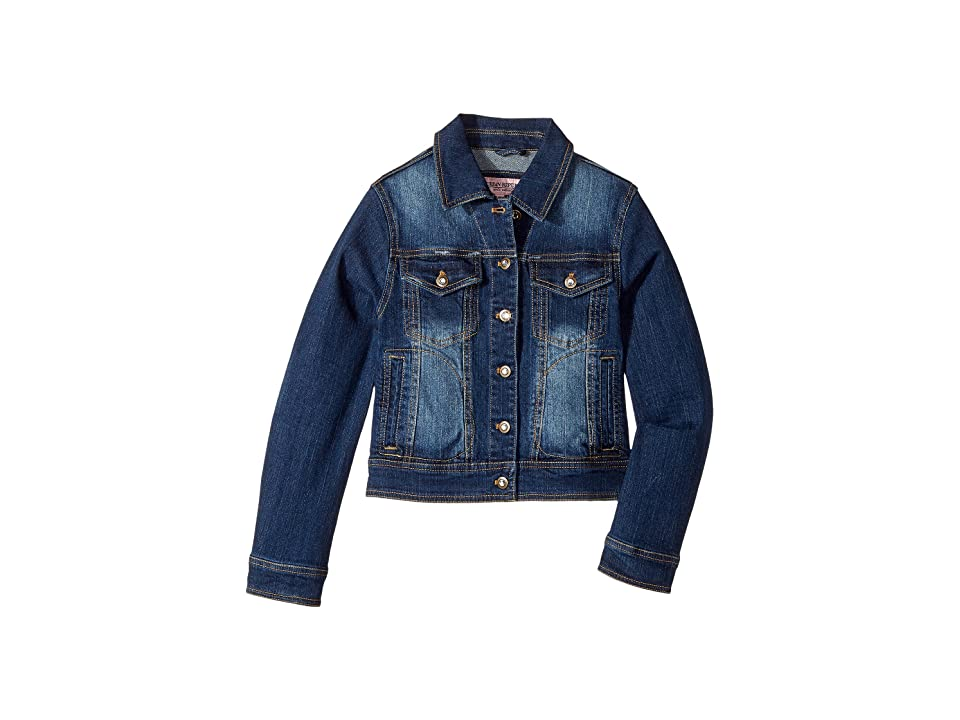Urban Republic Kids Dark Wash Denim with Rhinestone Detail (Little Kids/Big Kids) (Dark Wash) Girl