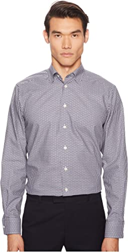 Eton - Contemporary Fit Multi Dot Plaid Shirt