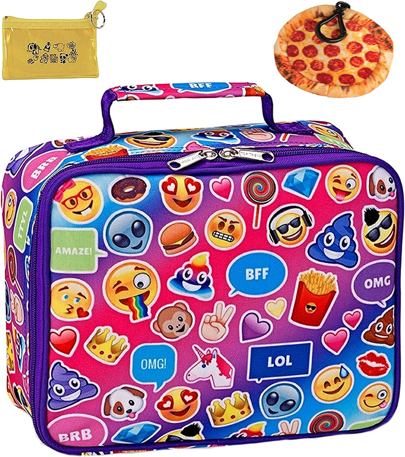 New Lunch Bag Kids  Emoji Insulated Lunchbag   Tote