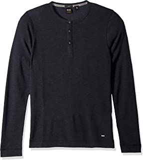 Hugo Boss Men's Trix Henley Waffle Long Sleeve Tee