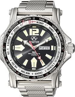 REACTOR Men's Proton 2 Swiss-Quartz Sport Watch with Stainless-Steel Strap, Silver, 23 (Model: 91603)