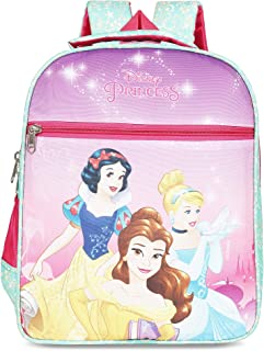 Priority Disney Princess Group Pink & Blue Polyester School Bag   Casual Backpack for Kid's Backpack (Ivory)