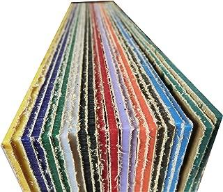 XLNT 20 Pieces & 10 Colors Acrylic Plastic Sheet 12 x 12 Inch (.118