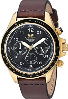 Vestal 'ZR2' Quartz Stainless Steel and Leather Casual Watch, Color:Brown (Model: ZR243L25.DB)