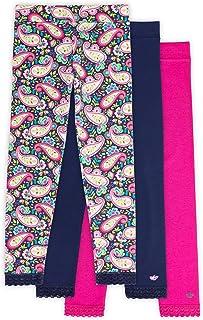 Lucky & Me | Jada Girls Leggings | Tagless | Full Length, Lace Trim, Wide Waistband | 3-Pack