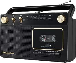 Studebaker Portable Retro Home Audio Stereo AM/FM Radio & Cassette Player/Recorder..