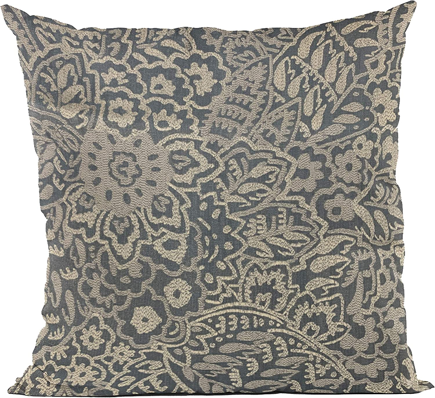 Plutus Max 78% OFF Brands New Orleans Mall Blue Gardens Paisley Pillow 26 Throw Luxury