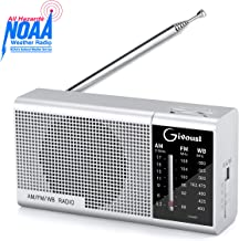 Emergency NOAA AM/FM/WB Portable Radio-Weather Radio Personal Battery Operated by 2 AA Batteries,3.5mm Earphone Jack,Pocket Radio with Best Reception,Longest Lasting Transistor for Jogging,hiking