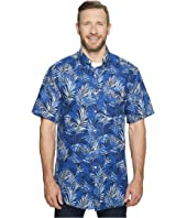 Nautica Big & Tall - Big & Tall Short Sleeve Tropical Print Woven Shirt