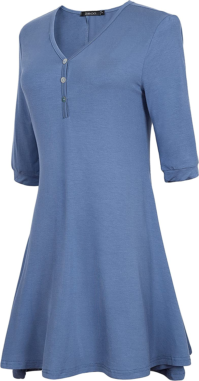 Urban CoCo Women's Casual Loose Tunic Tops Basic T Shirts