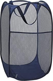 P-Plus International Mesh Popup Laundry Hamper - Portable, Durable Handles, Collapsible for Storage and Easy to Open Foldi...