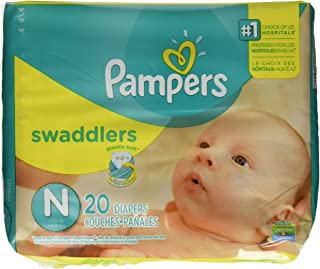 Pampers Swaddlers Newborn 120 Diapers (6 packs of 20)