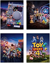 Toy Story 4 Posters - Set of 4 (11 inches x 14 inches) Glossy Prints - Woody Buzz Lightyear Jessie Duke Caboom Gabby Bo Peep Forky