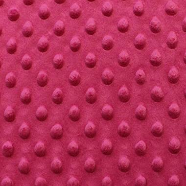 Snuggle Velour Bumps Bright Pink (12 Yard Bolt)