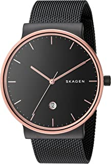 Skagen Men's Ancher Stainless Steel and Mesh Quartz Watch