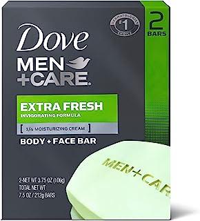 صابون الجسم والجسم والجسم من دوف للرجال + صابون للعناية بالوجه - منعش جداً - يغسل البكتيريا بشكل فعال، يغذي بشرتك 106 جرام