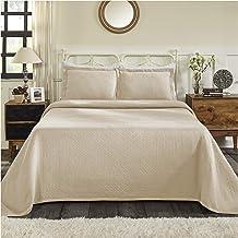 مفرش سرير قطن جاكار فاخر باسكت ويف مع أغطية وسائد، كتان